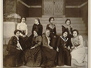 Women at Atlanta University, photograph by Thomas Askew, ca. 1900